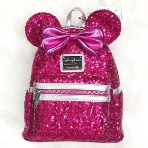 Disney Parks Loungefly Imagination Pink Backpack